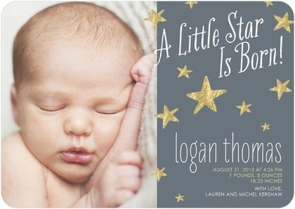 Star is Born in Storm by Smudge Ink For Tiny Prints