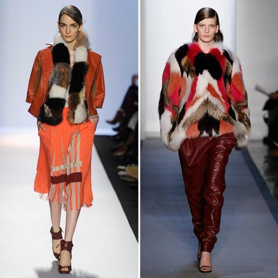 Colored Fur at New York Fashion Week Fall 2012