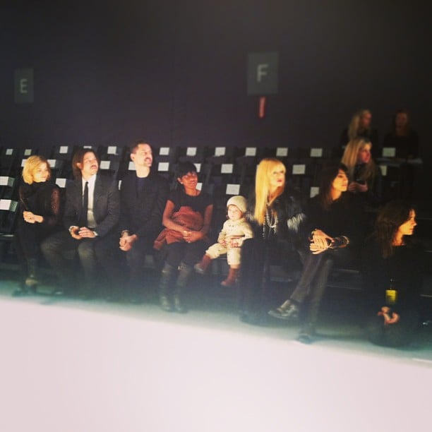 Rachel Zoe and Skyler Berman had a front-row seat during her fashion show's run-through. Source: Instagram user rachelzoe