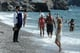 Sienna Miller and Tom Sturridge hit the beach in Positano with baby Marlowe.