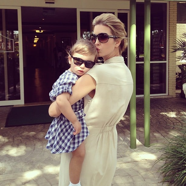 Ivanka Trump shared this sweet photo with her daughter, Arabella, at the PGA Tour in Miami. Source: Instagram user ivankatrump