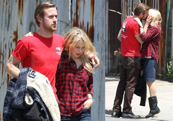 Photos of Ryan Gosling and Michelle Williams Kissing on Set of Blue Valentine in NYC