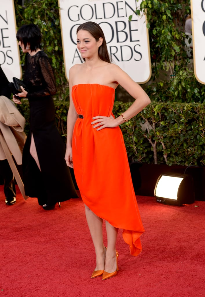Marion Cotillard Goes Simple at the 2013 Golden Globes
