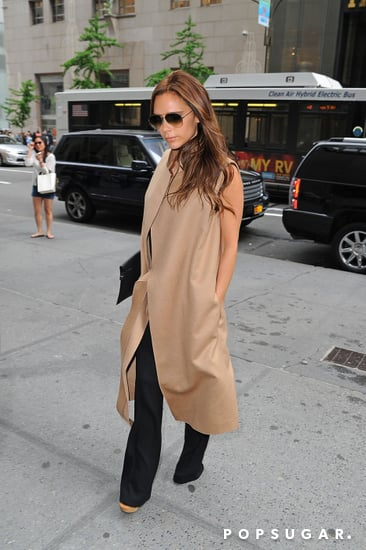 Victoria Beckham shared a smile while shopping in NYC.