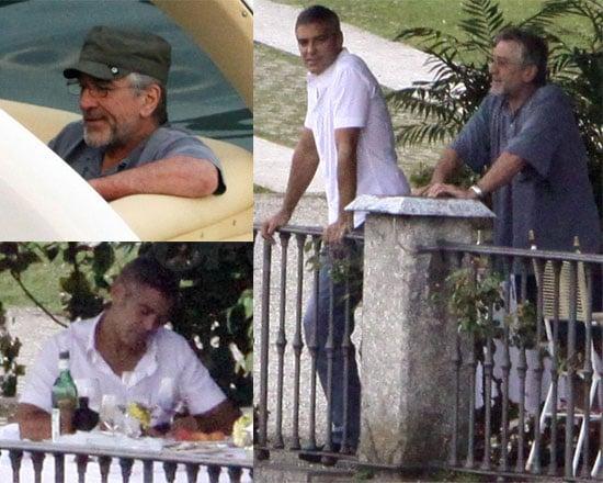 Photos of George Clooney and Robert De Niro in Lake Como
