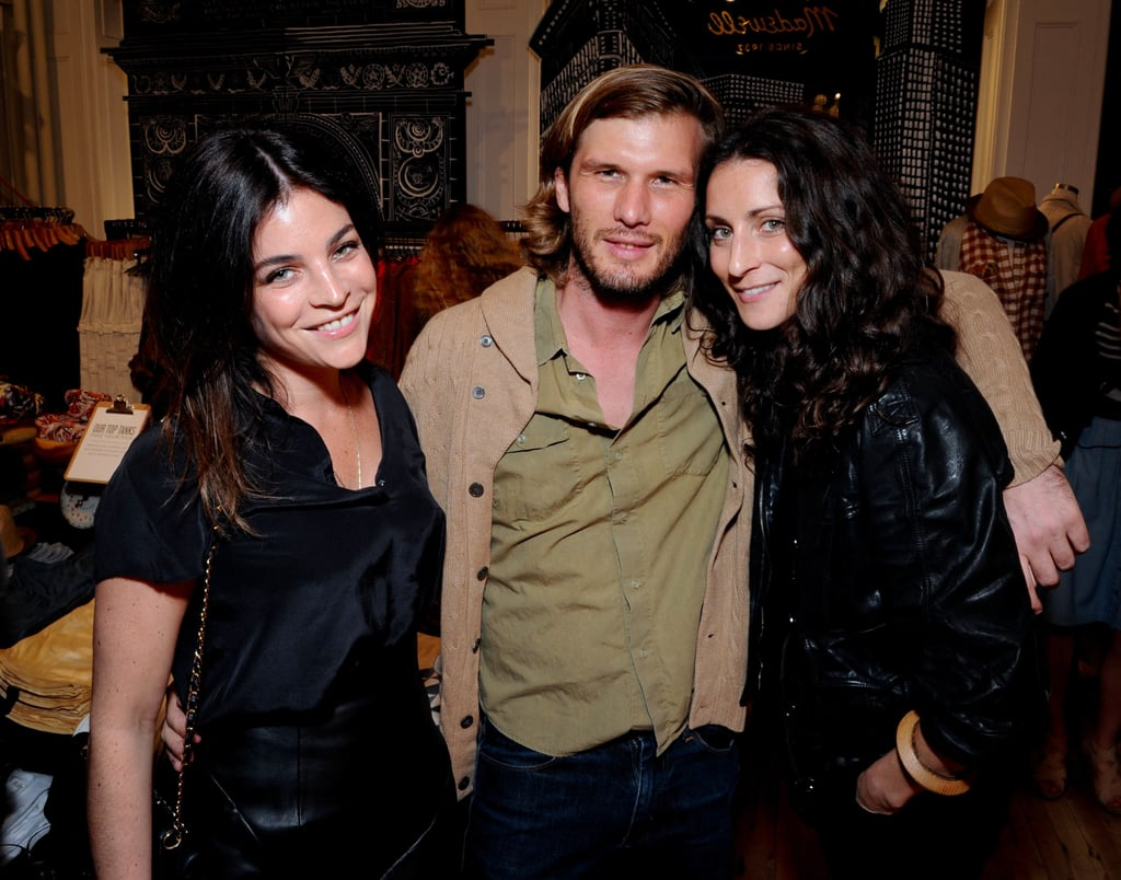 Julia Restoin-Roitfeld, Nicolas Malleville, and Nora Flaherty having a good time.