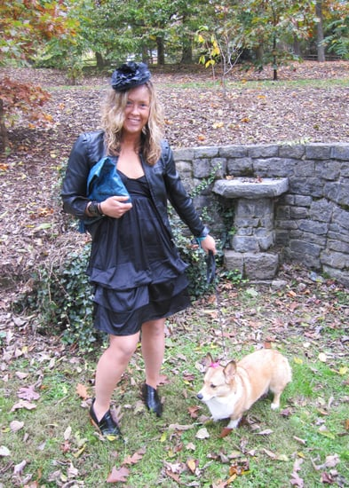 Black Wedding Chic with Pup