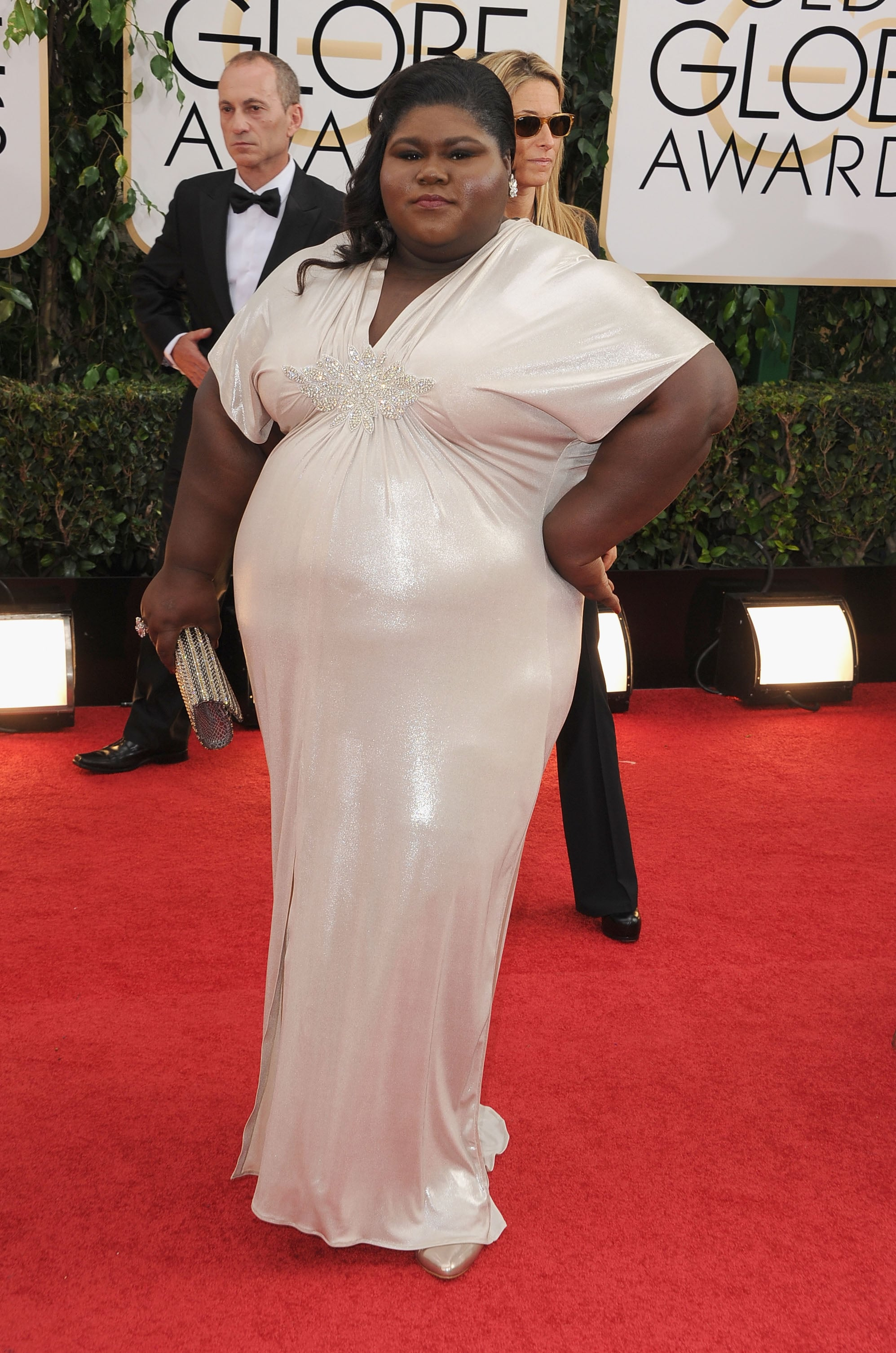 Gabourey Sidibe shined on the red carpet.