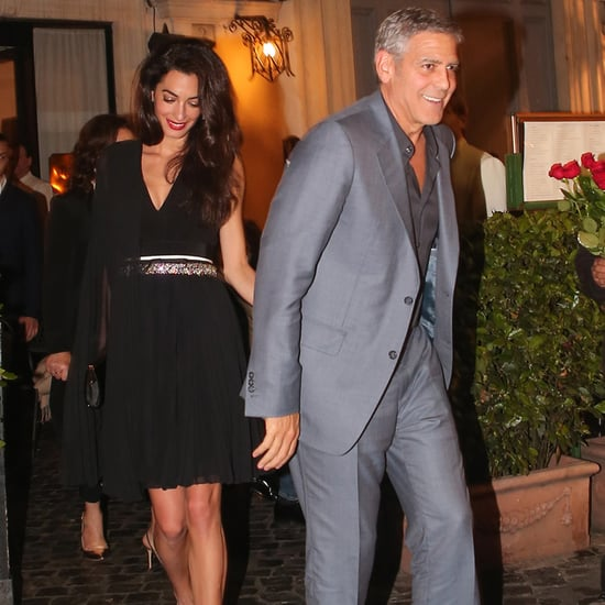 George Clooney Adorably Leads the Way For Amal During a Romantic Rendezvous in Rome