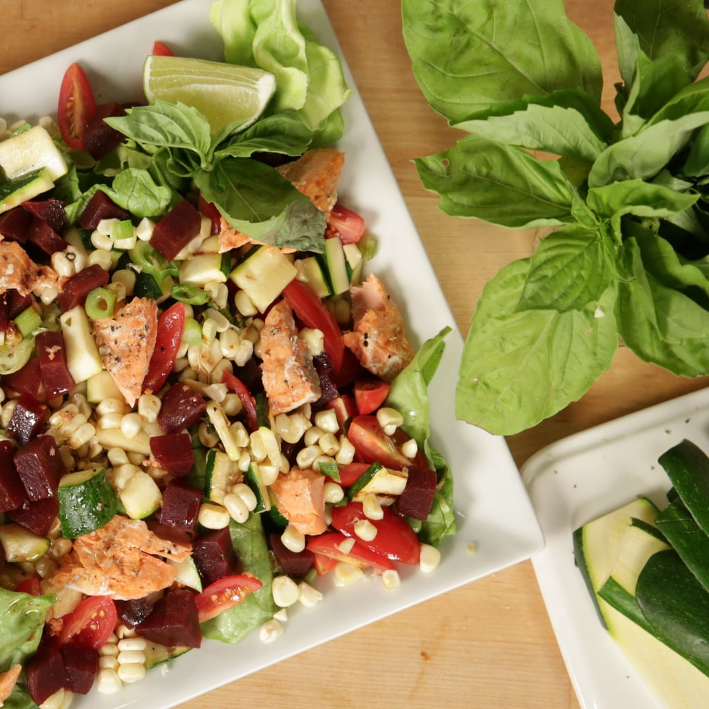 The Ivy's Grilled Vegetable Salad With Salmon