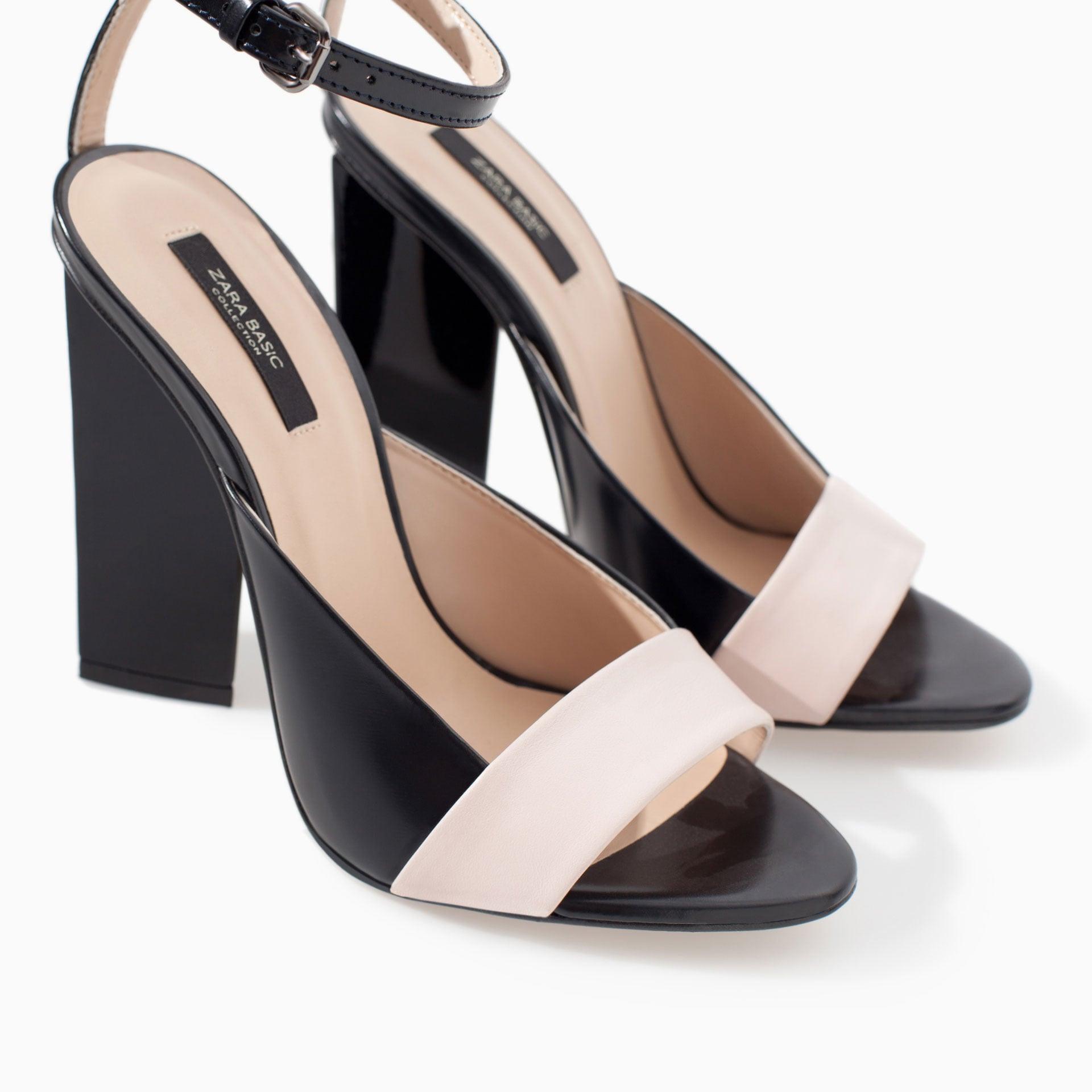 Zara High Heel With Geometric Pattern Sandal ($100)
