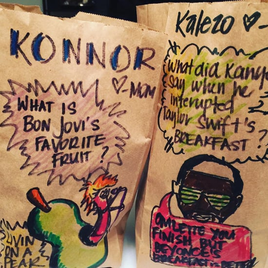 Mom Decorates Lunch Bags With Punny Drawings