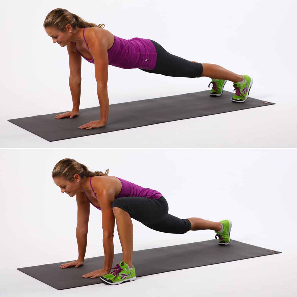 Push-Up With Alternating Lunges