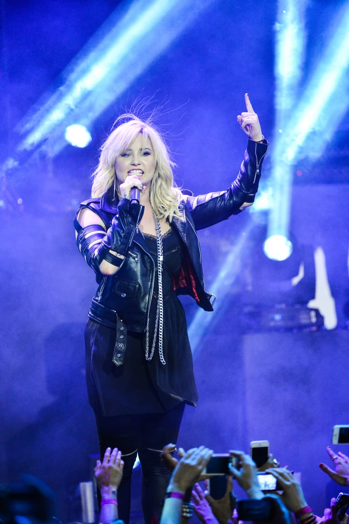 Demi Lovato performed at the event.