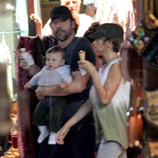 Penelope Cruz and Javier Bardem ate ice cream with baby Leo
