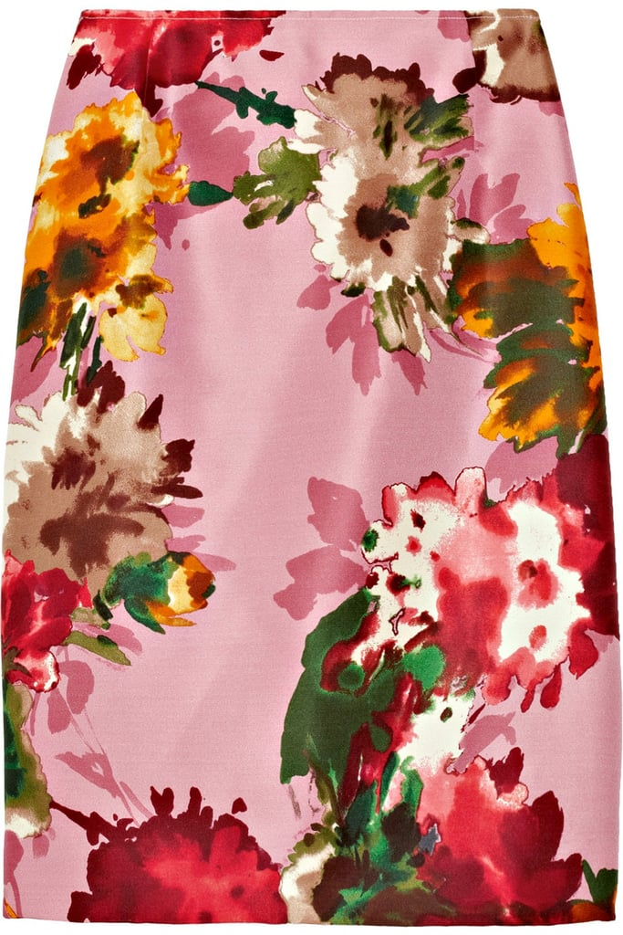 Oscar de la Renta for The Outnet floral pencil skirt