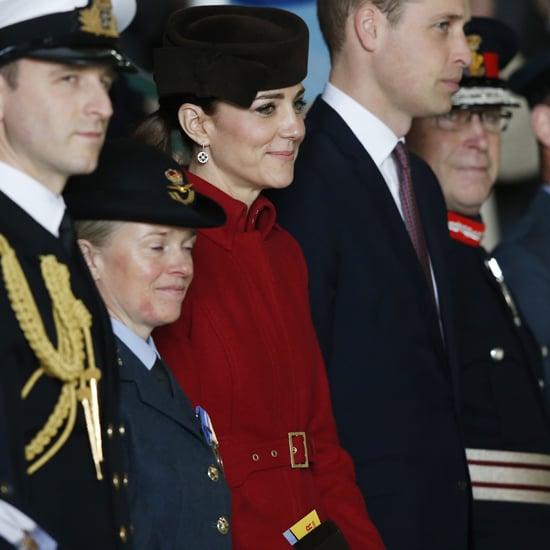 Kate Middleton Wearing Red LK Bennett Coat 2016