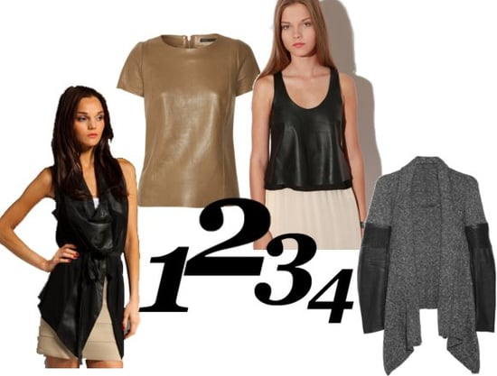 Shop the Best Leather Tops for Fall 2010