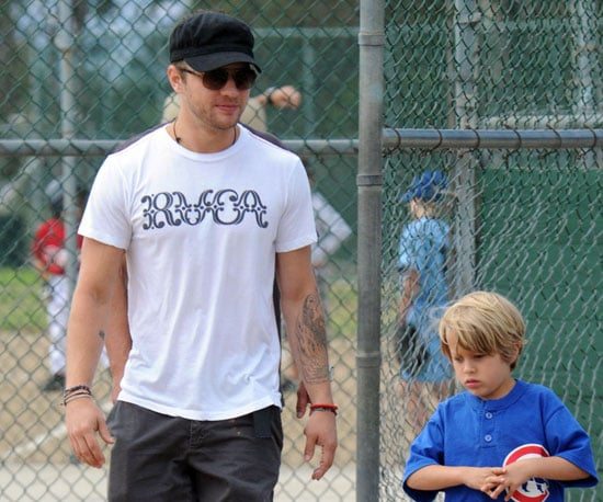 Photo Slide of Ryan Phillippe at Deacon's Baseball Game