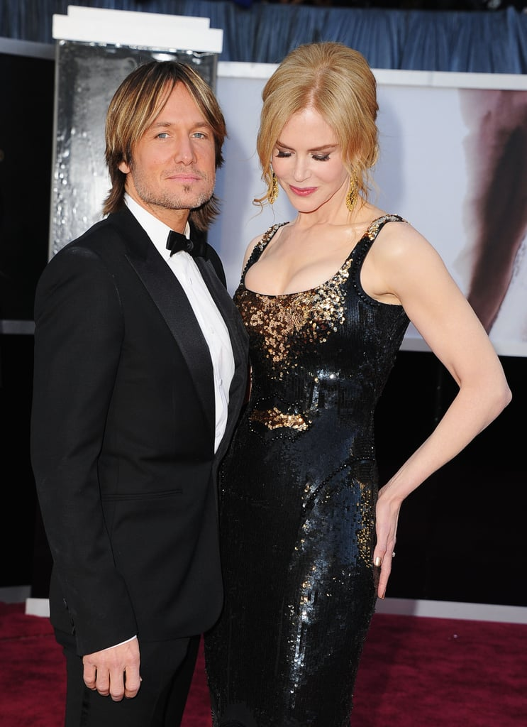 Nicole Kidman and Keith Urban on the red carpet at the Oscars 2013.