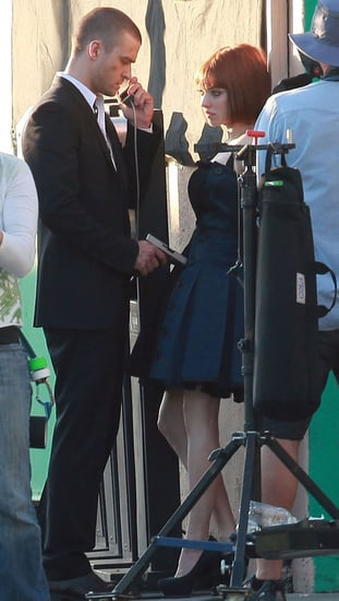 Pictures of Justin Timberlake and Amanda Seyfried Filming Now