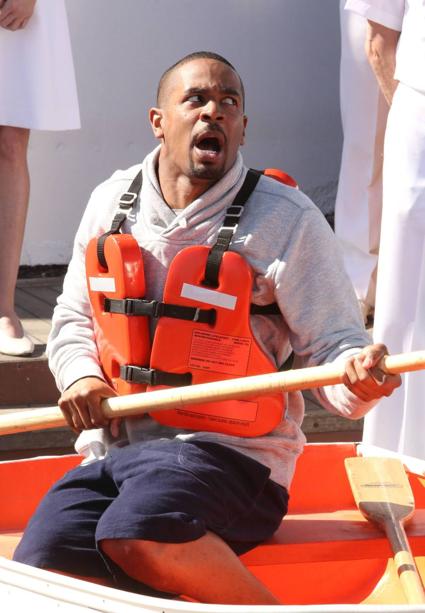 Coach (Damon Wayans Jr.) has to face his fear of boats.