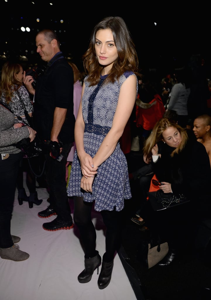 Phoebe Tonkin posed in the front row of BCBGMAXAZRIA's show last Thursday.
