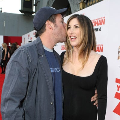 Adam Sandler and Pregnant Jackie Sandler at the You Don't Mess with the Zohan Premiere