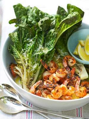 Fast & Easy Dinner: Grilled Shrimp and Romaine