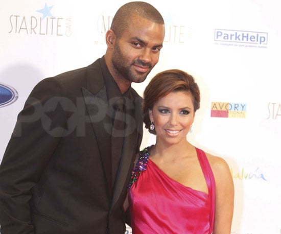 Slide Picture of Eva Longoria and Tony Parker at a Gala Event in Spain
