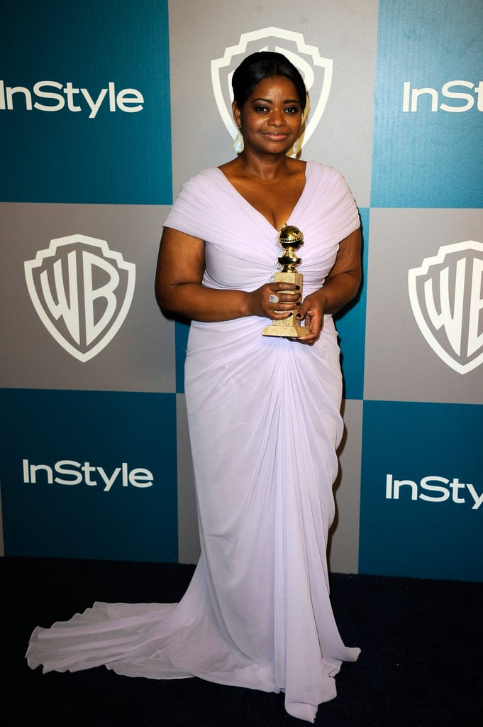 Octavia Spencer brought her Golden Globe to InStyle's Golden Globes afterparty.