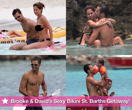 Pictures of Brooke Burke in a Bikini and David Charvet Shirtless on Their Family Vacation to St Barts