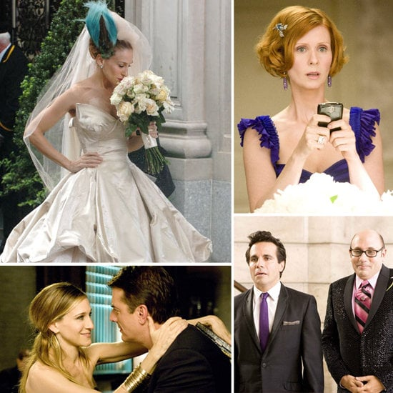 Buzz put together a movie wedding album for Big and Carrie's big-screen nuptials.