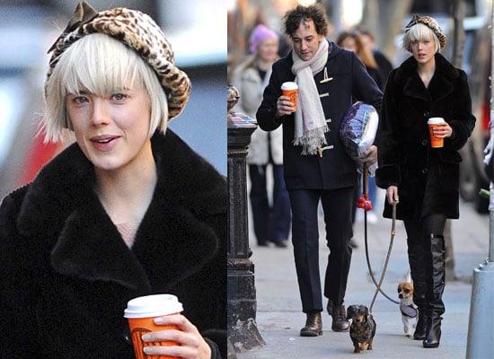 Photos Of Agyness Deyn and Albert Hammond Jr In New York With Their Dogs