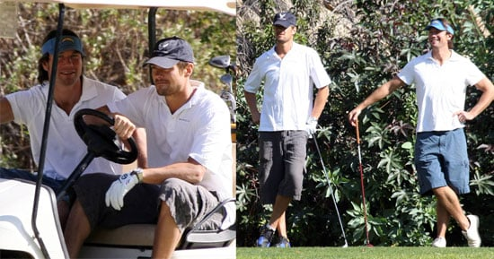 Jerry O'Connell and Josh Duhamel Go Golfing