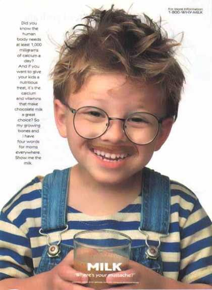 """After melting hearts in 1996's Jerry Maguire, actor Jonathan Lipnicki looked adorable in a """"Got Milk?"""" ad."""
