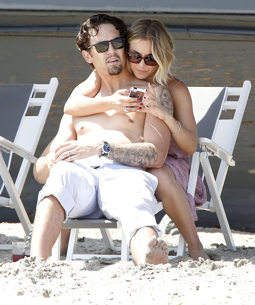 Kaley Cuoco and her husband, Ryan Sweeting, cozied up at Joel Silver's Memorial Day party in Malibu, CA, on Monday.