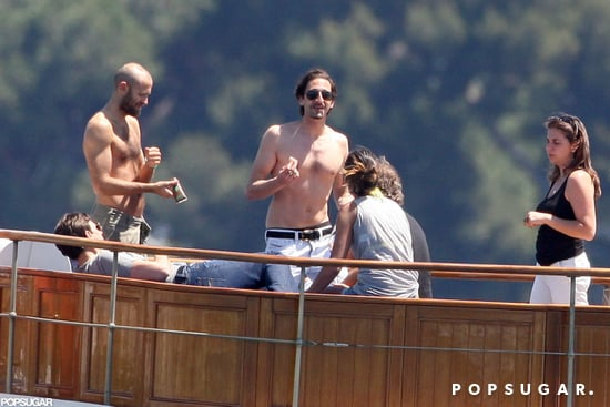 Shirtless Adrien Brody Soaks Up the Sun at Sea in Cannes