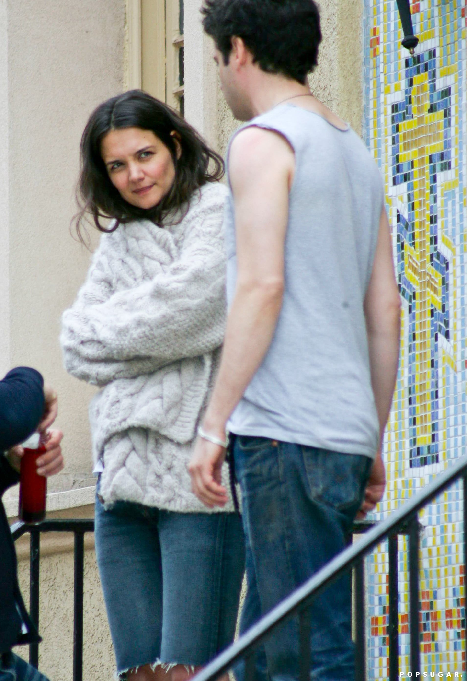 Katie Holmes wrapped up on set in NYC on Tuesday.