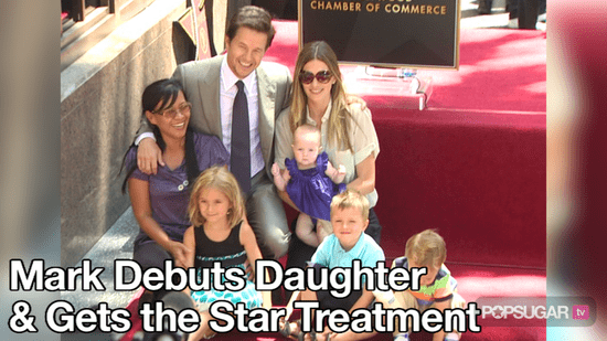 Video of Mark Wahlberg and His Kids at Star Ceremony