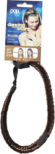 Dancing With The Stars Bellissima Braided Headband Chocolate Copper