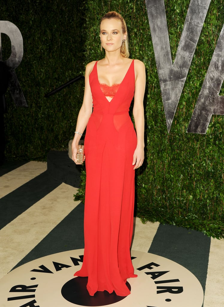 Diane Kruger Goes Super Sexy in Red Bra-Revealing Dress For Vanity Fair Oscars Bash
