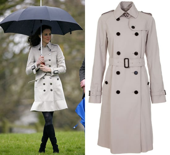 Double Breasted Trench Coats Like Kate Middleton Wore in Northern Ireland