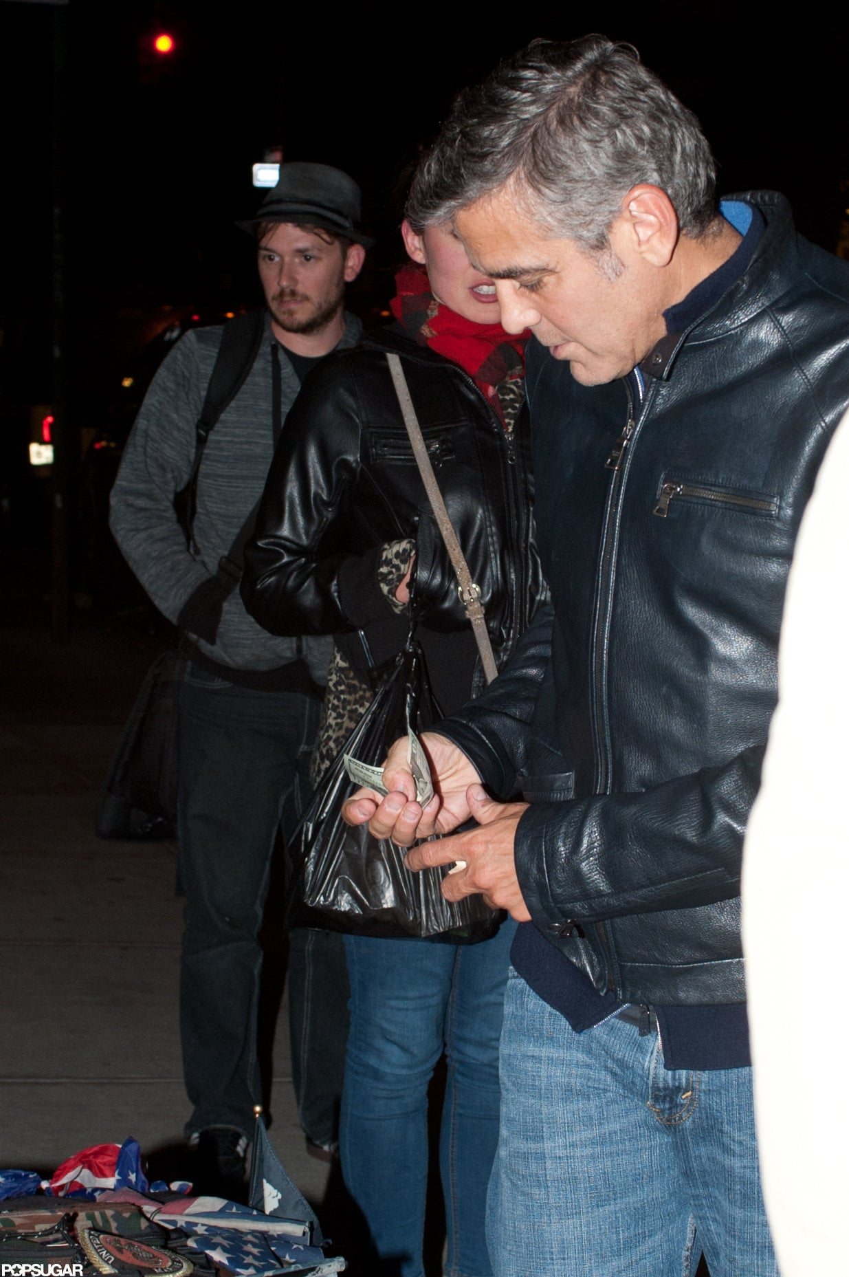 George Clooney and Stacy Keibler Hit NYC and Do Dinner With Bill