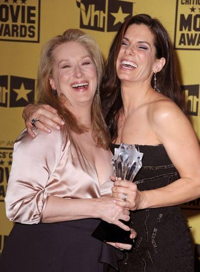 Photos of Sandra Bullock and Meryl Streep at Critics' Choice Awards Press Room