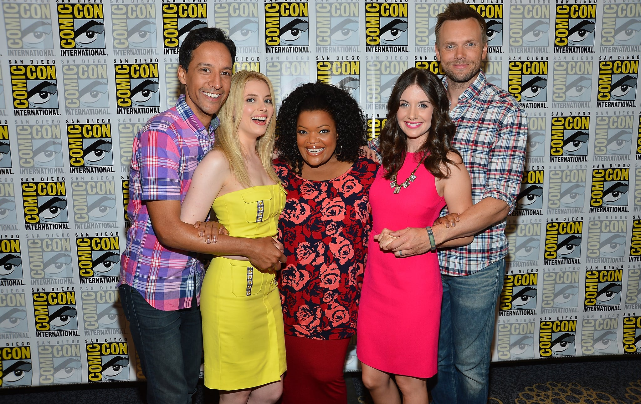 The cast of Community showed off their best prom pose on the red carpet in 2012.
