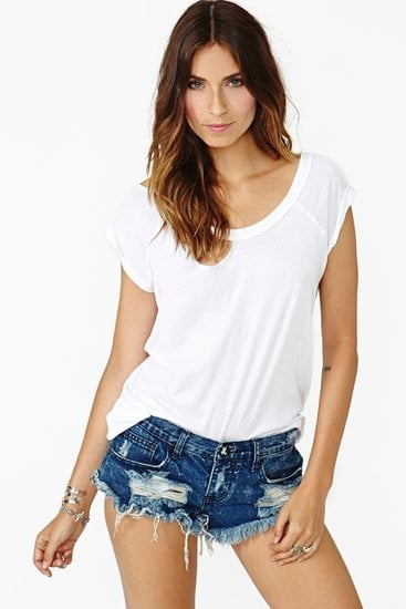 You just can't do a music festival without denim cutoffs, and we love the sexy cut of these Nasty Gal Dakota Cutoff Shorts ($78).