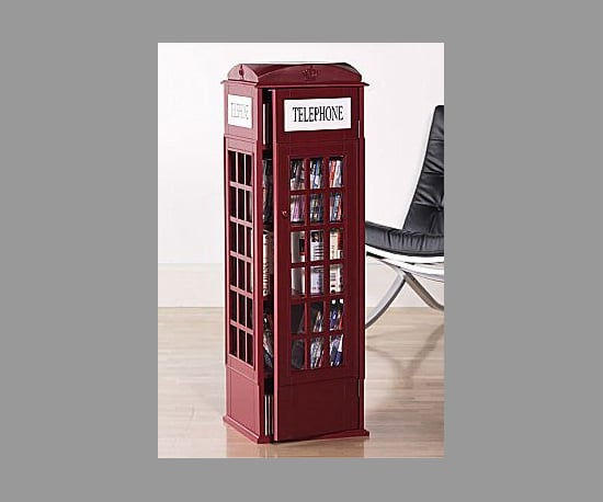 The Red Phone Booth CD Shelf