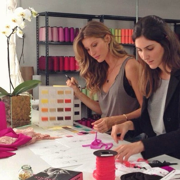 Gisele Bündchen got to work on her upcoming intimates collection. Source: Instagram user giseleofficial