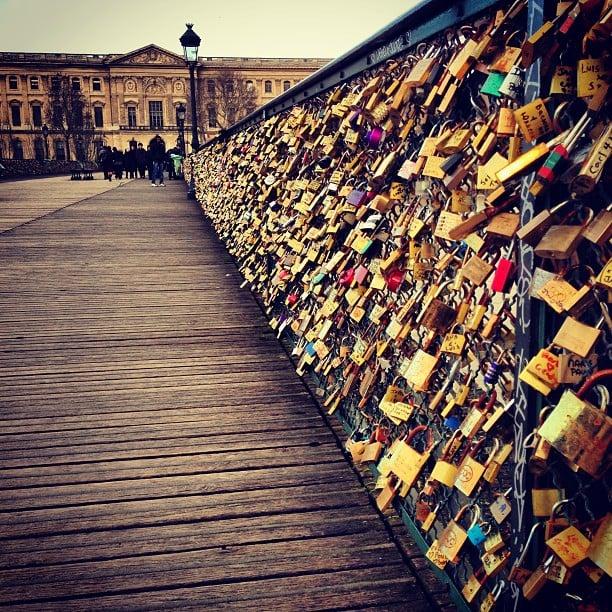 Add a Lock to the Love Lock Bridge in Paris